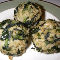 Greek Spinach Rice Balls