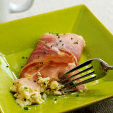 Cream Cheese and Chive Scramble with Prosciutto Recipe