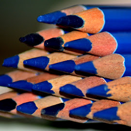 Triangle by Malay Maity - Artistic Objects Education Objects ( pencil, 20, triangle, blue, still life, artistic, object, pencils )