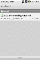 Screenshot of SMS Forwarding