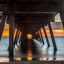 1 in a Million by Sharon Wills - Buildings & Architecture Bridges & Suspended Structures ( colour, south australia, glenelg, sunset, australia, jetty,  )