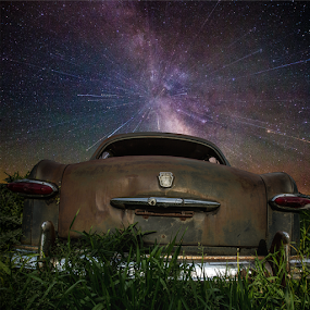 A car's dream by Aaron Groen - Landscapes Starscapes ( zoom, milky way )