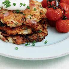 Potato And Celeriac Pancakes With Bacon And Cheese