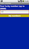 Screenshot of Powerball Magic Numbers