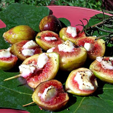 Broiled Figs With Goat Cheese