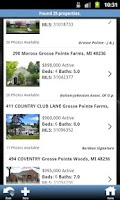 Screenshot of Michigan Real Estate Search