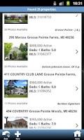 Screenshot of Michigan Real Estate Search