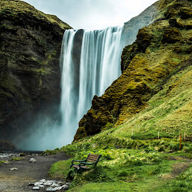 Skógafoss Waterfall  by Lillian Molstad Andresen - Landscapes Travel (  )