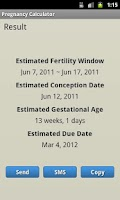 Screenshot of Pregnancy Calculator