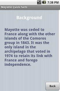 Mayotte Quick Facts - screenshot
