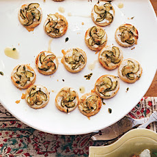 Mini Zucchini and Goat Cheese Tarts