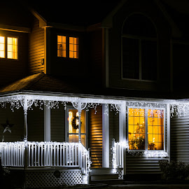 Light house by Lee Morest - Buildings & Architecture Homes ( lights, home, christmas 2014, night, house )