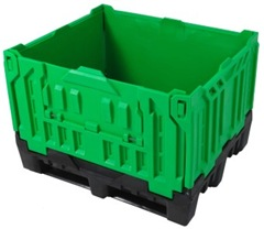 Plastic intermediate bulk container