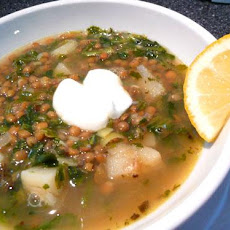Spinach, Lemon and Lentil Soup