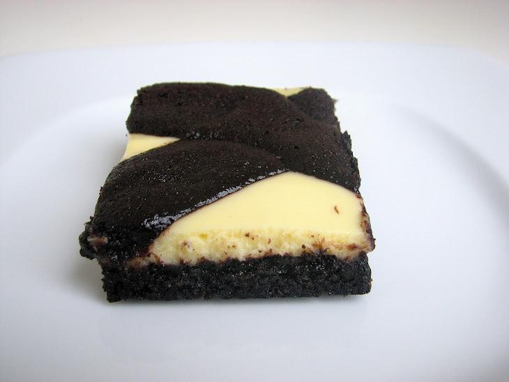 Black-and-White Cheesecake Bars Recipe | Yummly