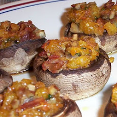 Bacon and Cheddar Stuffed Mushrooms