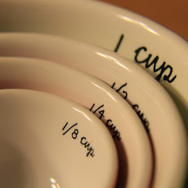 Measuring Cups by Hannah Humbert - Artistic Objects Cups, Plates & Utensils ( ingredients, baking, measuring cups,  )