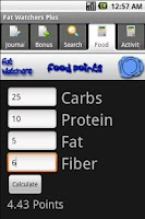 Screenshot of Fat Watchers Plus