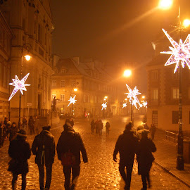 New Years Eve in Warsaw by Paul Nelson - City,  Street & Park  Historic Districts