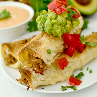 Pulled Pork Taquitos with Chipotle-Ranch Dipping Sauce