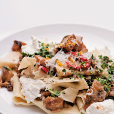 Pappardelle and Eggplant Ragu Recipe with Fresh Ricotta