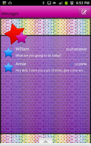 GO SMS - Stars N Rainbows