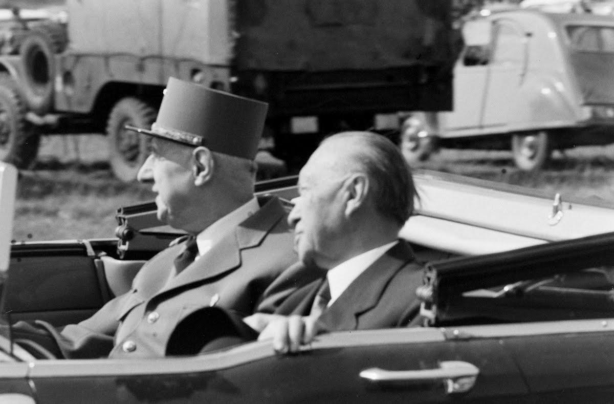 De Gaulle und Adenauer, 1962.