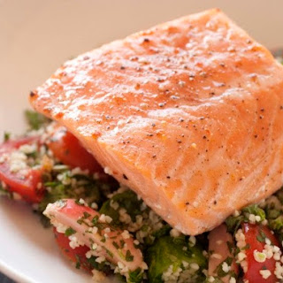 Slow-Baked Atlantic Salmon with Tabouli from 'Flour, Too'