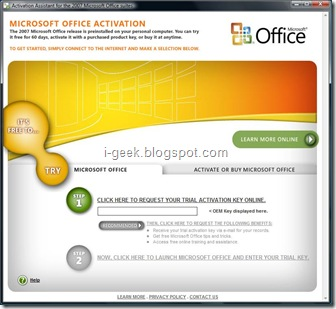 activating microsoft office 2007