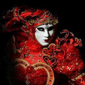 Venice Mask - Red heart by Dominic Jacob - News & Events World Events ( venezia, heart, red, carnival, carnevale, venice, mask, italy, masque, maschere,  )