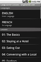 Screenshot of LangLearner Multi-Language