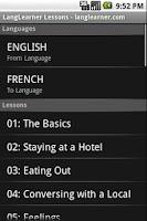 Screenshot of LangLearner Multi-Language