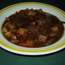 Hearty Beef and Rice Minestrone Soup