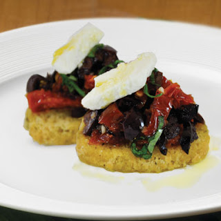 Sundried Tomatoes and Kalamata Bruschetta