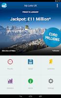 Screenshot of UK Lottery Results (UK lotto)