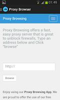 Screenshot of Proxy Browsing