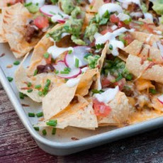 Cookie Sheet BBQ Nachos