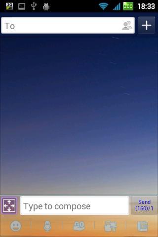 GO SMS Pro Blue Sky