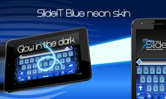 Screenshot of SlideIT Blue Neon Skin