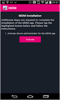 Screenshot of MDM