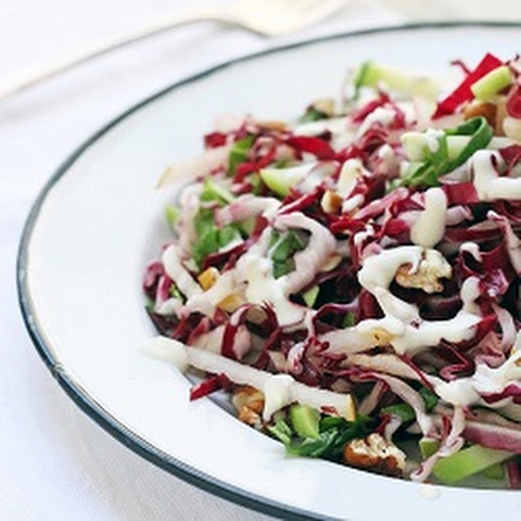 Radicchio, Chayote, Asian Pear, Basil & Pecan Slaw