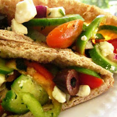 Greek Salad in a Pita