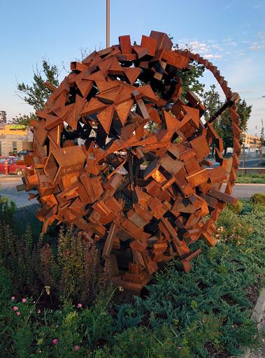 Iron Ball TAM  Art Sculpture