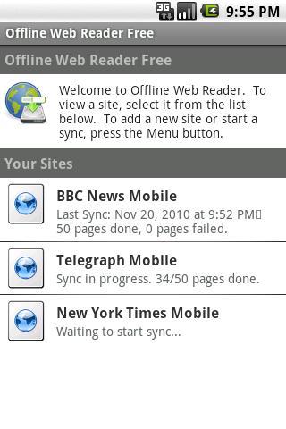 Offline Web Reader Free