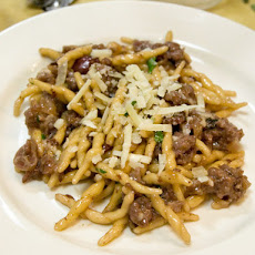 Andrew Carmellini's Strozzapreti with Sausage, Grapes, and Red Wine