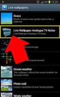 Screenshot of Old Analogue TV Noise LIVE WP