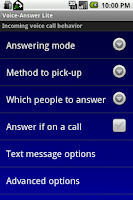 Screenshot of Voice-Answer Lite