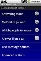 Screenshot of Voice-Answer Lite