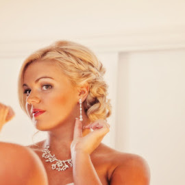 Just right by Alan Evans - Wedding Getting Ready ( wedding photography, wedding day, wedding, aj photography, wedding jewellery, beautiful bride, bride,  )