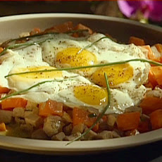 Roast Turkey and Sweet Potato Hash with Fried Eggs